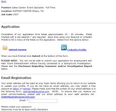 Apply Jobs Online Without Resume by Main Event Job Application Apply Online