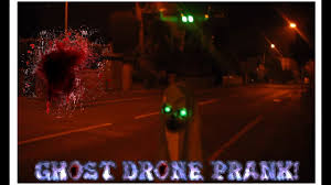 scary ghost drone halloween prank youtube