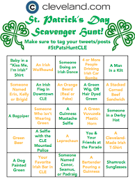 st patrick u0027s day cleveland 2016 complete a fun scavenger hunt on