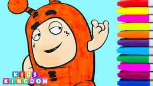 oddbods coloring pages slick episode fun cartoon drawing colouring