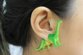 dinosaur earrings dinosaur earrings for a modern caveman bored panda