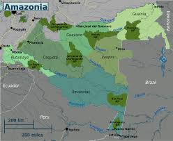 Map Of Colombia Amazonia Colombia U2013 Travel Guide At Wikivoyage