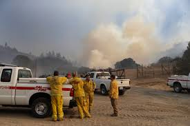 Wildfire Social Media App by Strong Winds Building Heat To Hinder California Firefighting