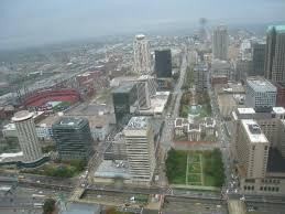 Gateway Arch View From The Top In The Rain Picture Of Gateway Arch Saint