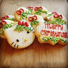 merry christmas kitty cookies