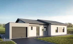 modele de terrasse couverte plan de maison contemporaine avec garage en toiture plate