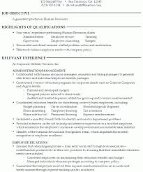 pleasing human resource resume samples for a generalist in
