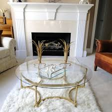 Hollywood Regency Dining Room by Coffee Cocktail Table Labarge Brass Hoof Foot Hollywood
