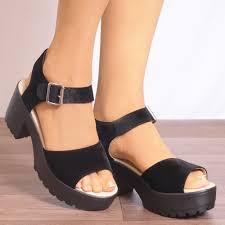 sleek spice black suede sandal free styles