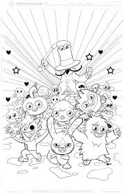 moshi monster coloring pages moshi monsters coloring pages to