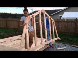 how to build a barn style roof diy shed 10x12 barn style youtube