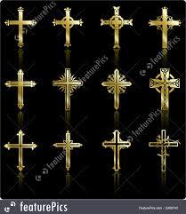 religious symbols religious golden cross design collection