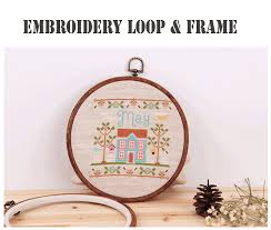 embroidery hoops cross stitch hoop ring imitated wood
