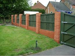 Backyard Wall Brick Fence Design Zamp Co