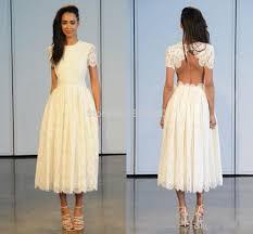 popular designer tea length wedding dresses buy cheap designer tea