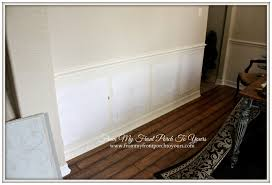 Wainscoting Dining Room From My Front Porch To Yours Diy Crossbuck Barn Door Dining Room