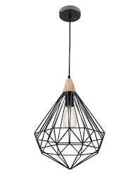 Wire Pendant Light Raglan Black Wire Pendant Light Chic Chandeliers