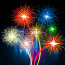 color fireworks meaning explosion background and celebration stock