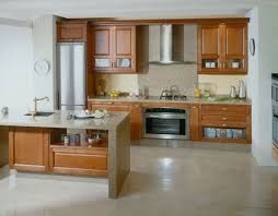 prepossessing wooden kitchen cabinet ideas feat chimney and tall