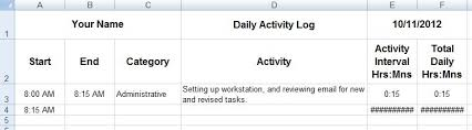 dave u0027s tech docs creating daily activity logs through ms excel