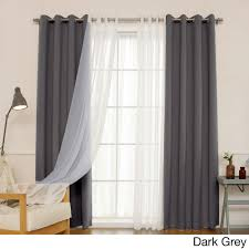 Emerald Green Curtain Panels by Aurora Home Mix U0026 Match Curtains Blackout And Muji Sheer 84 Inch
