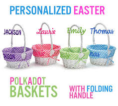personalized easter basket liners personalized easter basket white wicker easter baskets folding