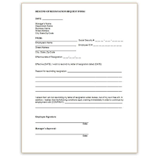 employment request form rescind resignation form can you rescind