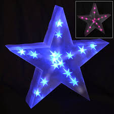 holographic led light up decoration battery 40cm