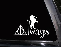 hogwarts alumni decal gryffindor always harry potter vinyl decal phone decal laptop