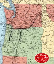 Map Of Portland The Spokane Portland And Seattle Railway
