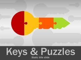 keys and puzzles a powerpoint template from presentermedia com