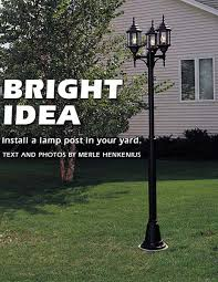 how to install outdoor light post how to install a l post in your yard