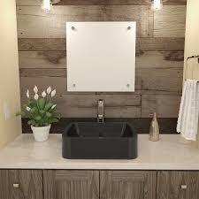 decolav lacee 2802 rectangular above counter resin bathroom sink