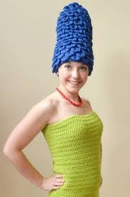 Marge Simpson Halloween Costume Marge Simpson Crocheted Costume Homer Occasions Holidays