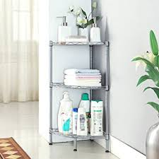 Bathroom Storage Rack Langria 3 Tire Corner Shelf Bathroom Shelving Corner