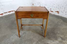 Drexel Desk Sold U2013 Compass By Drexel Campaign Style Lift Top Make Up Vanity