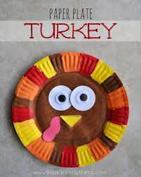 paper plate turkey thanksgiving turkey craft and craft
