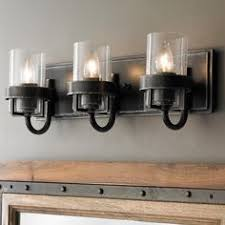 Kichler Bath Lighting Kichler Lighting Barrington 3 Light Anvil Iron And Driftwood