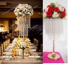 gold centerpieces 62cm 24 4 h wedding table centerpiece gold flower stand