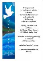 confirmation invitation discount religious 99 invitations for confirmation dedication