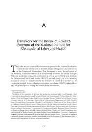 appendix a framework for the review of research programs of the