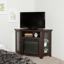 Corner Fireplace Tv Stand Entertainment Center by 48 Inch Espresso Corner Fireplace Tv Stand Free Shipping Today