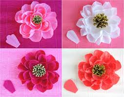 crepe paper flowers 12 diy crepe paper flower tutorials how to make crepe paper