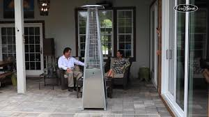 patio flame heaters stainless steel pyramid flame patio heater video gallery