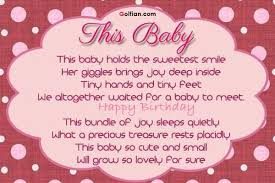 baby girl poems poem birthday wishes for baby girl greetings golfian