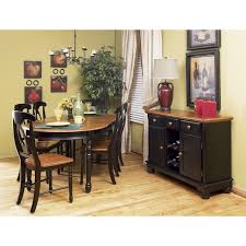 british isles honey expresso 7 piece oval dinette set dining