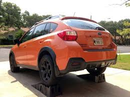 subaru xv crosstrek lifted finished my rear bumper plasti dip strikes again club crosstrek