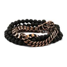 gold chain bracelet with leather images Carpe diem jewelry mens rose gold chain wrap bracelets jpg