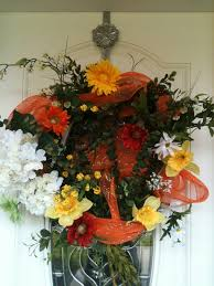 Wreath For Front Door Decoration Ideas Outstanding Image Of Decorative Round Colorful