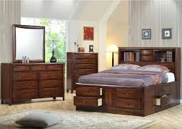 bookcase headboard full size full size storage bed with bookcase